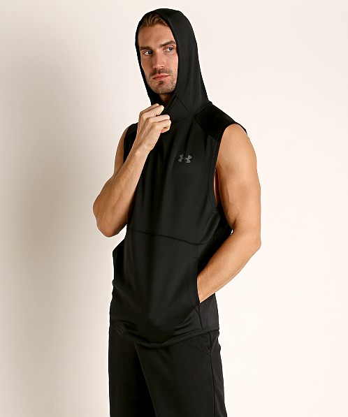 Under Armour MK-1 Lightweight Sleeveless Hoodie Black