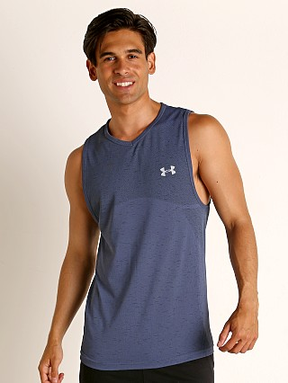 Under Armour Seamless Tank Top Blue Ink/Mod Gray
