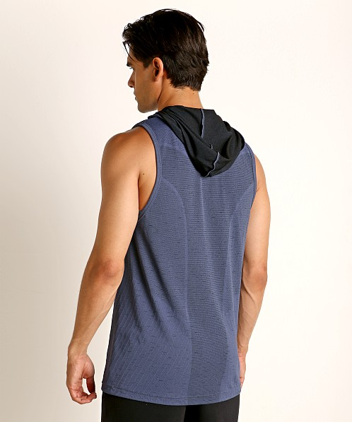 Under Armour Seamless Sleeveless Hoodie Blue Ink