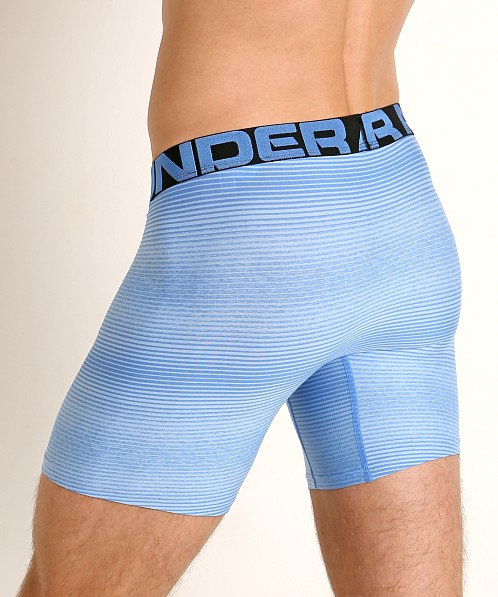"Under Armour Tech Mesh Front 6"" Boxerjock Versa Blue/Black"