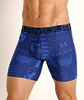 "Under Armour Tech Mesh Front 6"" Boxerjock American/Versa Blue, view 3"