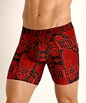 "Under Armour Tech Mesh Front 6"" Boxerjock Black/Red, view 3"
