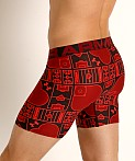 "Under Armour Tech Mesh Front 6"" Boxerjock Black/Red, view 4"