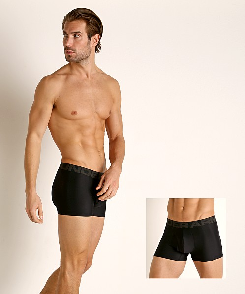 "Under Armour Tech Mesh Front 3"" Boxerjock 2-Pack Black/Black"