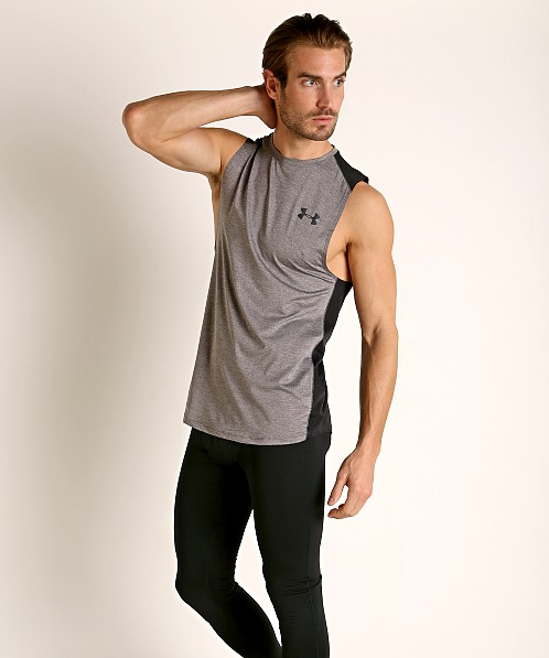 Under Armour Raid 2.0 Muscle Tee Charcoal Light Heather