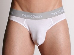 Obviously Anatomical Pouch Low Rise Brief White
