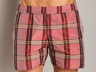 You may also like: Sauvage Italian Nylon Sun Plaid Shorts Red