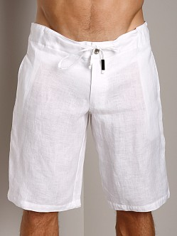 Sauvage 100% Laundered Linen Tropical Short White
