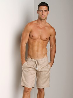Sauvage 100% Laundered Linen Tropical Short Natural