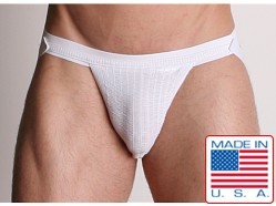 ActiveMan 3-Way Swimmer Jockstrap White