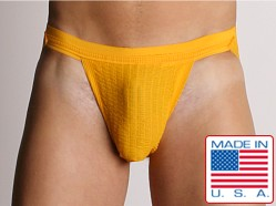 ActiveMan 3-Way Swimmer Jockstrap Gold