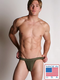 ActiveMan 3-Way Swimmer Jockstrap Army