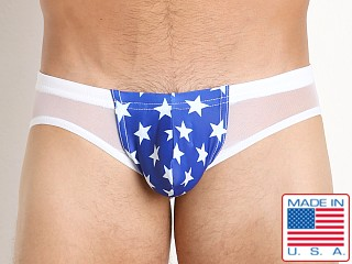 N2N Bodywear Nitro Patriot Swim Brief Red/White/Blue