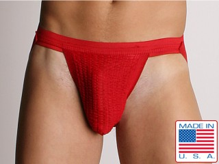 ActiveMan 3-Way Swimmer Jockstrap Red