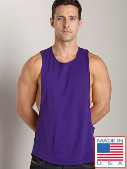 LASC Deep Cut Out Tee Purple Passion