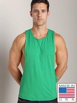 LASC Deep Cut Out Tee Green Envy