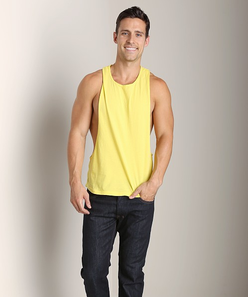 LASC Deep Cut Out Tee Yellow Slicker