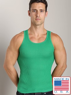 LASC Ribbed Tank Green Envy