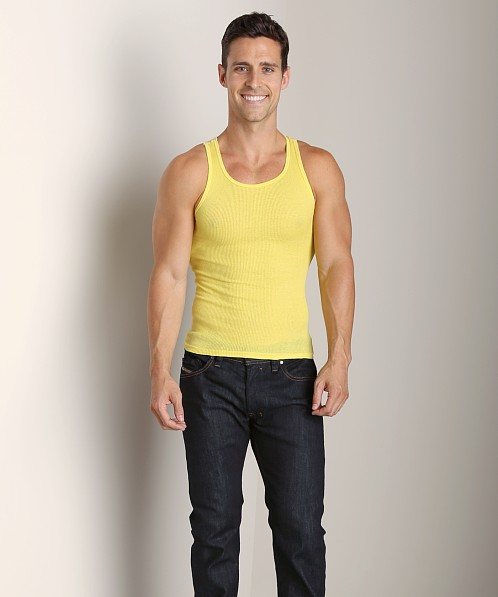 LASC Ribbed Tank Yellow Slicker