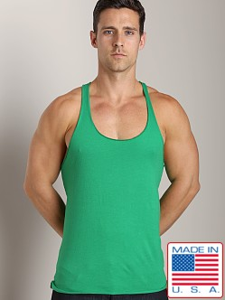 LASC String Tank Top Green Envy