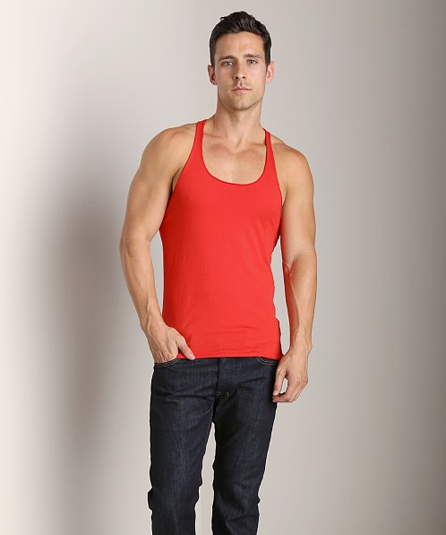 LASC String Tank Top Red Macaw