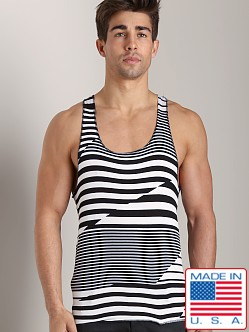LASC Stripe String Tank Top Black/White