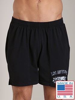 LASC Logo Cotton Gym Short Black