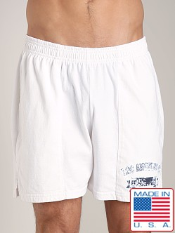 LASC Logo Cotton Gym Short White
