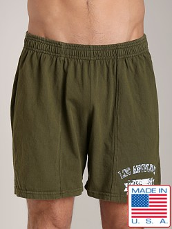 LASC Logo Cotton Gym Short Army