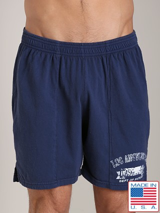 LASC Logo Cotton Gym Short Navy