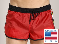 LASC Nylon/Cotton Soccer Short Red