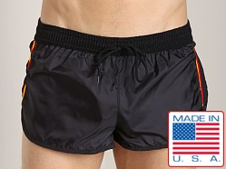 LASC Nylon/Cotton Soccer Short Black