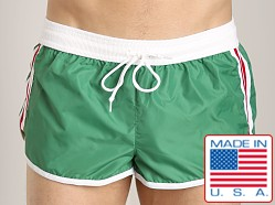 LASC Nylon/Cotton Soccer Short Green
