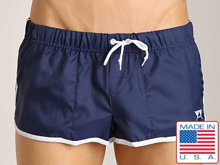 LASC Brazilian Cut Nylon Trunk Navy