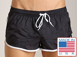 LASC Brazilian Cut Nylon Trunk Black