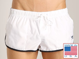 LASC Brazilian Cut Nylon Trunk White