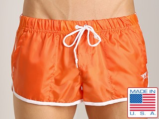 LASC Brazilian Cut Nylon Trunk Orange