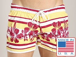 LASC Printed Trunk Yellow Hibiscus