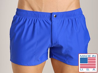 LASC Solid Nylon Swim Trunk Royal