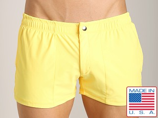LASC Solid Nylon Swim Trunk Yellow