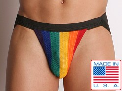 ActiveMan Rainbow Pride Swimmer Jockstrap Black
