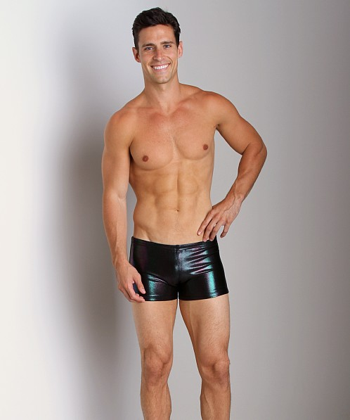 LASC Black Iridescent Swim Trunk