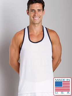 LASC Gymnast Tank Top White/Navy