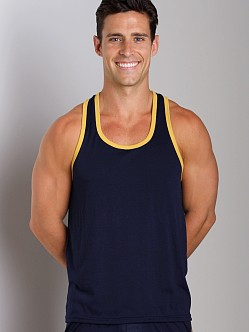 LASC Gymnast Tank Top Navy/Yellow