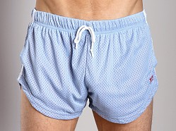 LASC Double Mesh Running Short Sky