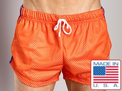 LASC Double Mesh Running Short Orange