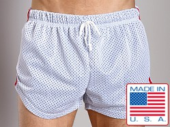 LASC Double Mesh Running Short White