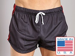LASC Double Mesh Running Short Black