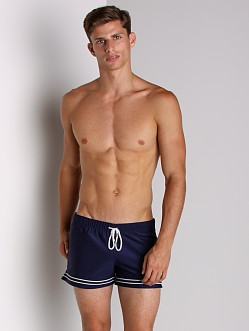 Tulio Ringed Leg Athletic Short Navy