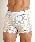 Modus Vivendi Glitter Line Swim Short White/Gold, view 3